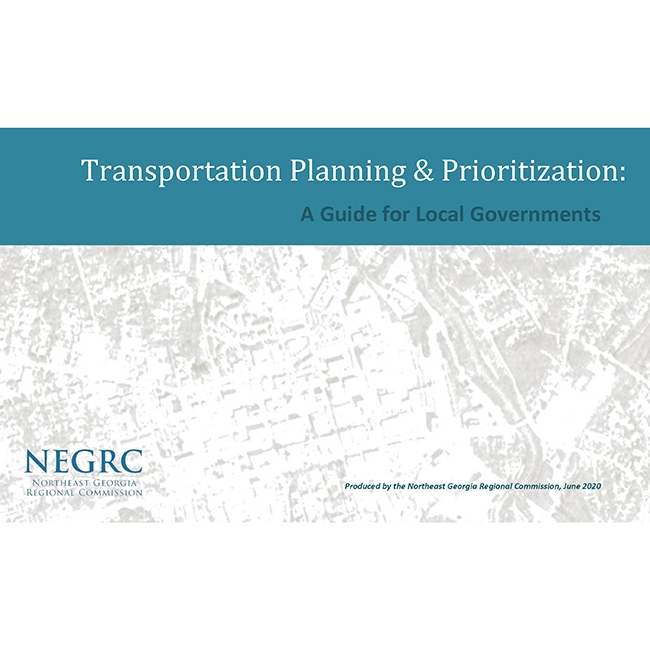 New Guide Release: Transportation Planning & Prioritization Guide for Local Governments
